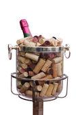 Champagne s zátky — Stock fotografie