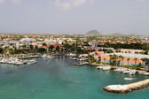 Tropical Harbor On Aruba — Stock Photo