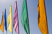 Banners In The Wind — Stock Photo