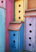 Colorful High-Rise Birdhouse — Stock Photo
