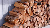 Stacked Fire Wood — Stock Photo