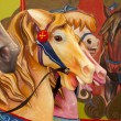 Colorful Horses On Carousel — Stock Photo