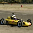 Stock Photo: Vintage Yellow Race Car