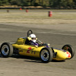 Vintage Yellow Race Car — Stock Photo