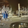 Dinner Table With Wine Glasses — Stock Photo