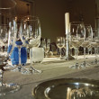 Foto de Stock  : Dinner Table With Wine Glasses