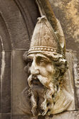 Saint Patrick Stone Carving — Stock Photo