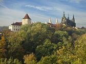 Pražský hrad na podzim — Stock fotografie