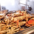 Stock Photo: Dungeness Crabs In Kitchen