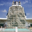 Stock Photo: Climbing Wall On Cruiseship