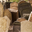 Headstones in Jewish Graveyard — 图库照片