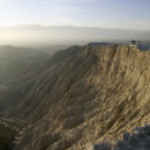Borrego badlands canyon — Stockfoto