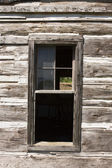Barn Window With Old Glass — Stock Photo
