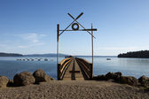 Boat Dock At Summer Camp — Stock Photo