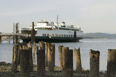 Ferry en el muelle — Foto de Stock