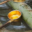 Water Ladle At Shinto Shrine — Stock Photo