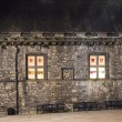 Windows of Edinburgh Castle At Night — Stock Photo