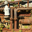Rusty Engine With Vines — Stock Photo