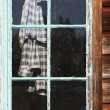 Stock Photo: Plaid Shirt In Window