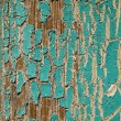 Stock Photo: Peeling Turquoise Paint