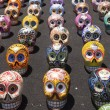 Latin American Painted Skulls — Stock Photo
