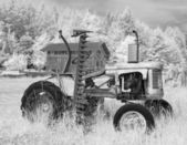 Farm Tractor In Infrared — Stock Photo