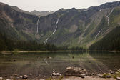 Avalanche Lake Headwall — Stock Photo