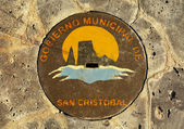 Manhole Cover, San Cristobal — Stock Photo
