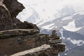 Rock Cairn At Altitude — Stock Photo
