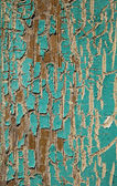 Peeling Turquoise Paint — Stock Photo
