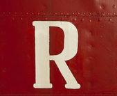 White R On Ship — Stock Photo