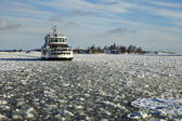 Ferry In Helsinki Winter — Stock Photo