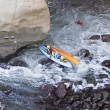Two Kayaks In Trouble — Stock Photo