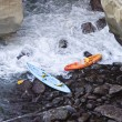 Two Abandoned Kayaks — Stock Photo