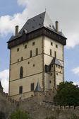 Karlstein Castle Tower — Stock Photo