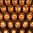 Stock Photo: Candles At Notre Dame de Paris