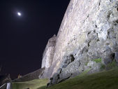 Edinburgh Castle Ramparts At Night — Stock Photo