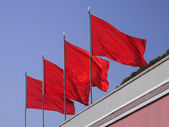 Four Red Flags — Stock Photo