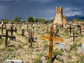 Historic Taos Cemetery — Stock Photo
