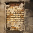 Stock Photo: Bricked Up Burial Crypt