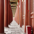 Stock Photo: Taimiao Ancestral Temple Colonnade