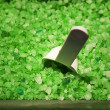Bin Of Green Crystals — Stock Photo