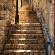 Stone Staircase In Zefat - Stock Photo