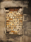 Bricked Up Burial Crypt — Stock Photo