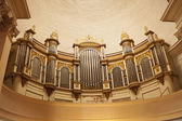 Pipe Organ In Cathedral — Stock Photo