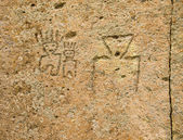 Native American Petroglyphs — Foto Stock
