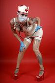 Latex nurse — Stock Photo