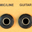 Mic Guitar Input Sockets — Stock Photo #7481154