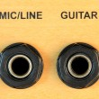 Mic Guitar Input Sockets — Stock Photo