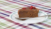 Chocolate Cherry Cake — Stock Photo